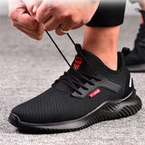 2019 Fashion Summer Steel Toe Work Shoes for Men Puncture Proof Safety Shoes Man Breathable Light Industrial Casual Shoes Male