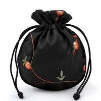 11X13cm High Quality embroidery Satin Drawstring Bag Silk Brocade Pouches Damask Jewelry Pouch Christmas Wedding Gift Bag 121