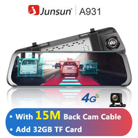 Junsun A930 10'' ADAS Stream Media Rear View Mirror Avtoregistrator 4G Android Smart Dash Camera FHD 1080P Auto Recorder GPS