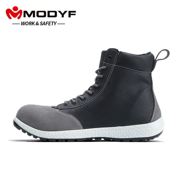 MODYF Men Safety Shoes Steel Toe cap Work Shoes Puncture Proof  Sneaker Casual Footwear boot