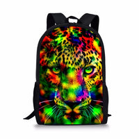 FORUDESIGNS Camouflage Printing Backpack for Girls Boys,Colorful Animal Teenage Kids School Book Bag Backpacks