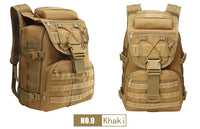 35L Molle Camo Tactical Backpack Military Army Waterproof Hiking Camping Backpack Travel Rucksack Outdoor Sports Climbing Bag