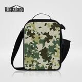 Dispalang Camouflage Men Portable Lunch Bag Thermal Insulated Lunchbox For Students Children Small Canvas Cooler Bags For School