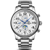 CARNIVAL Blue Hand Multifunction Automatic Mechanical Men Watch TopBrand Luxury Business watch Stainless Steel Case Sport relogio