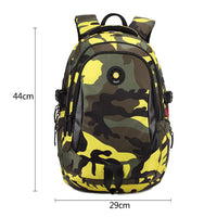 School Bags for Teenage Boys Multi Pocket Travel Backpack with Cool Boy Military School Bag Camouflage Men Backpacks