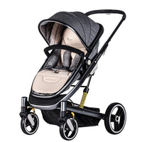 High Landscape Baby Stroller Lightweight Baby Carriage Pram Can Sit Recline Foldle Four Wheel Shock Absorber Fast Delivery