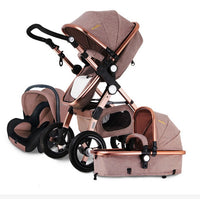 Free ship! Baby Stroller 3 in 1 with Car Seat For Newborn High View Pram Folding Baby Carriage Travel System