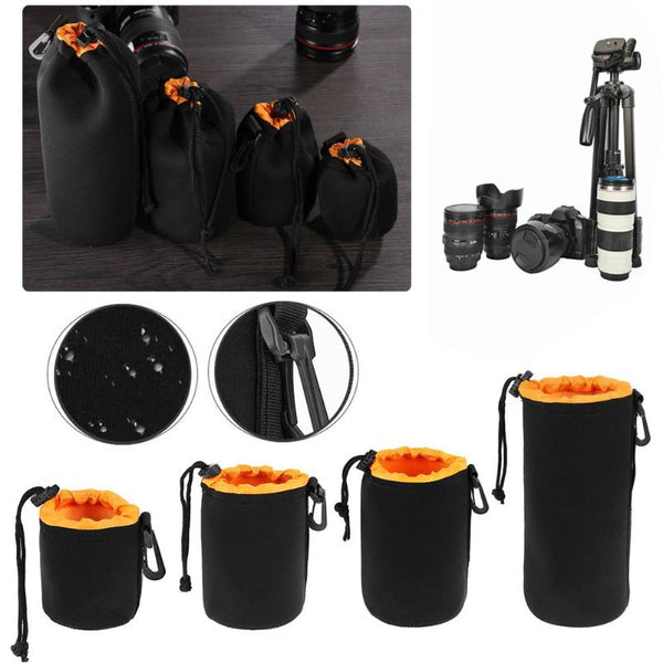 1Pcs Camera Lens Pouch Bag Neoprene Waterproof Soft Video Camera Lens Pouch