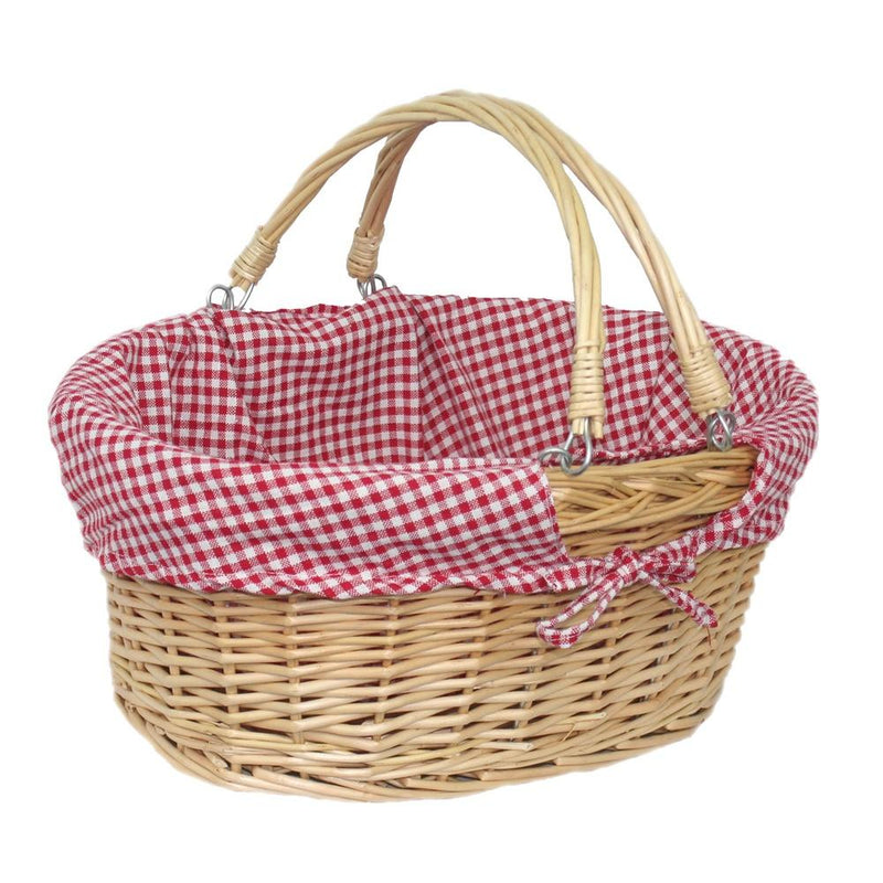 Small Swing Handle Wicker Shopping Basket