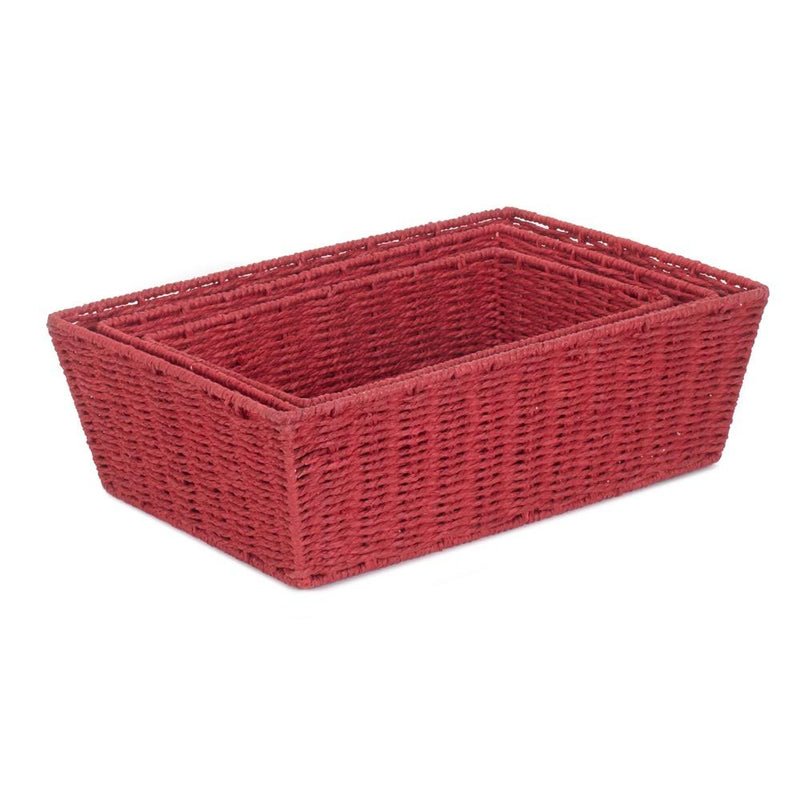 Red Paper Rope Display Tray