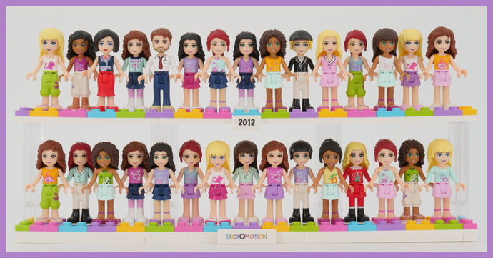 What did the 2012 LEGO Friends Minidolls Look Like?