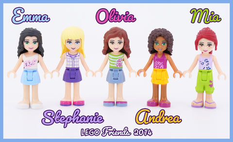 2014 LEGO Friends Main Characters
