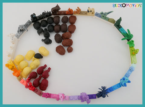 2012 LEGO Minidolls Hair Color Ellipse