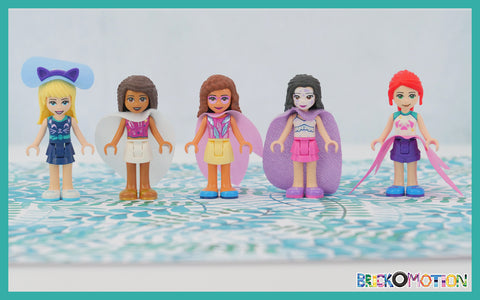 LEGO Friends With Capes Repurposed from Their Cube Accessories