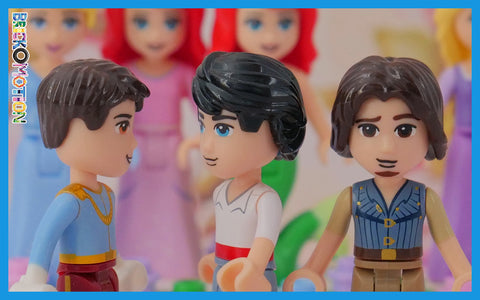 Boring hair pieces reused from LEGO minifigures