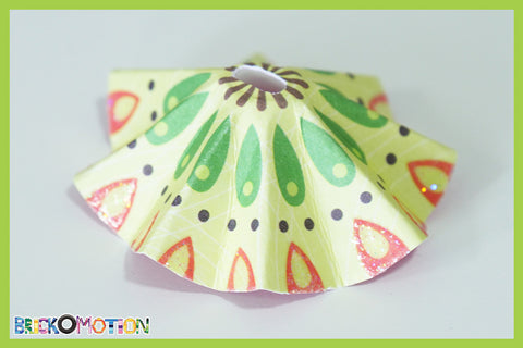 Folded Sunray Pleats Skirt from Scrapbooking Paper