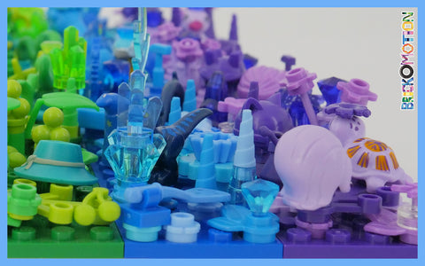 There are approx. a million representatives from the blue color family at LEGO and only several from the violet