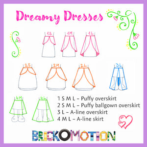 Dreamy Dresses Pattern Sketches 1