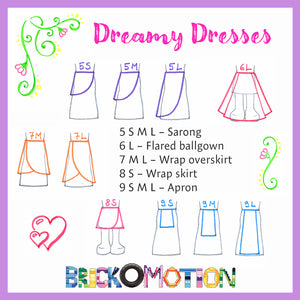 Dreamy Dresses Pattern Sketches 2