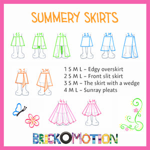 Summery Skirts Pattern Sketches 1
