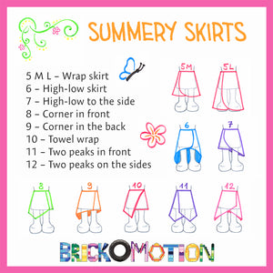 Summery Skirts Pattern Sketches 2