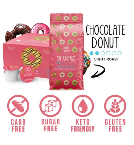 Smart Saturdaze Chocolate Donut Coffee K-Cups
