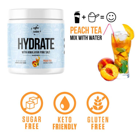 Hydrate- Electrolyte for Water - Peach Tea