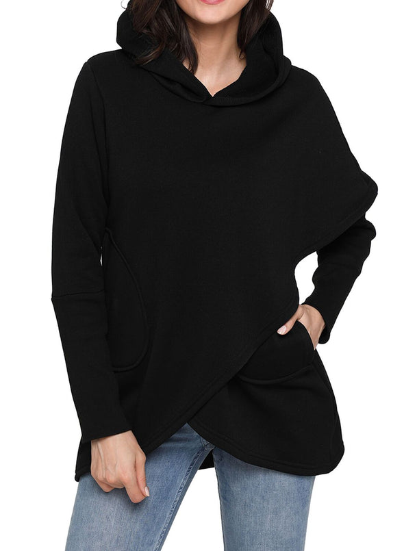 Irregular Long Sleeve Hoodies
