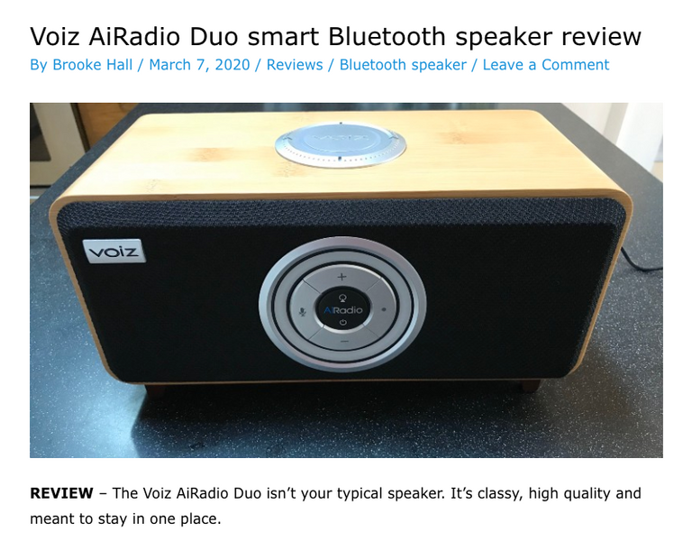 Voiz AiRadio Duo REVIEW - by The Gadgeteer