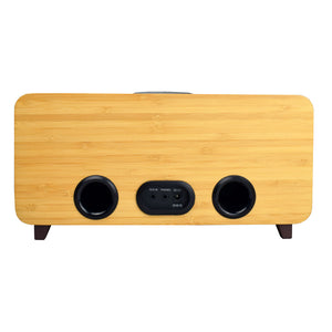 VR-80 AiRadio Duo AI Smart Radio, Pure Dynamic Sound, Sustainable Handcrafted Bamboo Cabinet (Natural Grill) - Free Shipping for the US