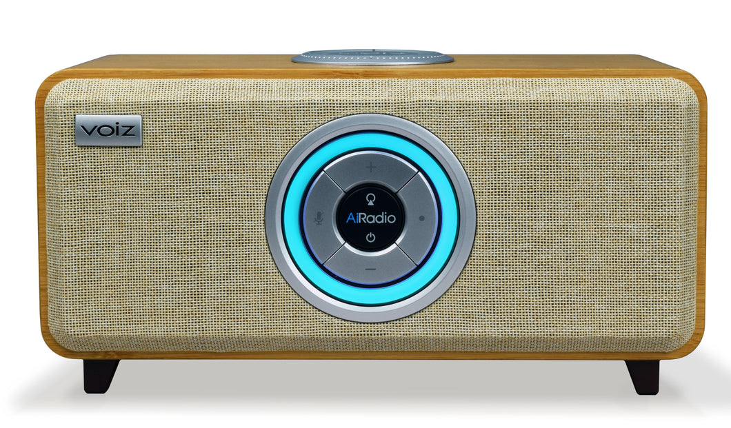 Voiz AiRadio Handsfree Alexa Voice Control Wireless WiFi Smart Speaker Radio Home Audio HiFi System