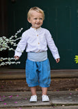Blue Pageboy Knickerbockers by Amelia Brennan Weddings