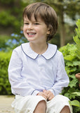Amelia Brennan - Page Boy in white peter pan collar shirt with navy piping