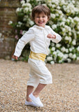 Pageboy wearing Ivory Shorts by Amelia Brennan Weddings