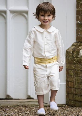 Amelia Brennan - Ivory and yellow page boy outfit