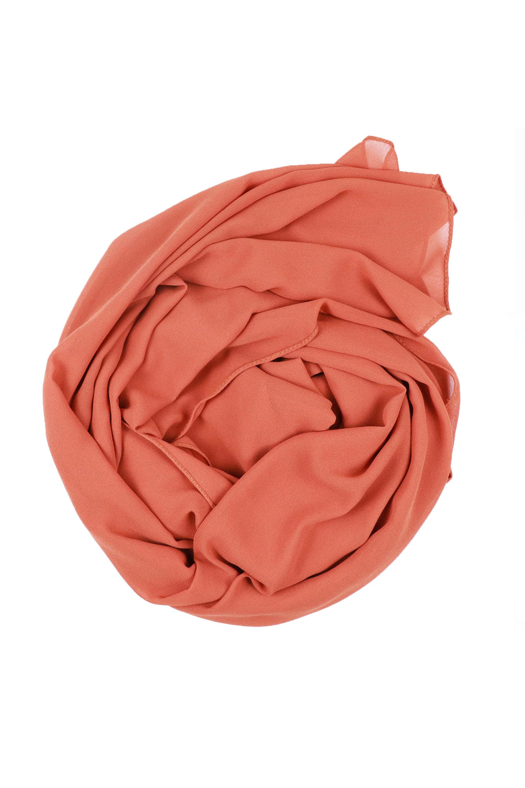 Coral Chiffon Hijab - The Modest Look
