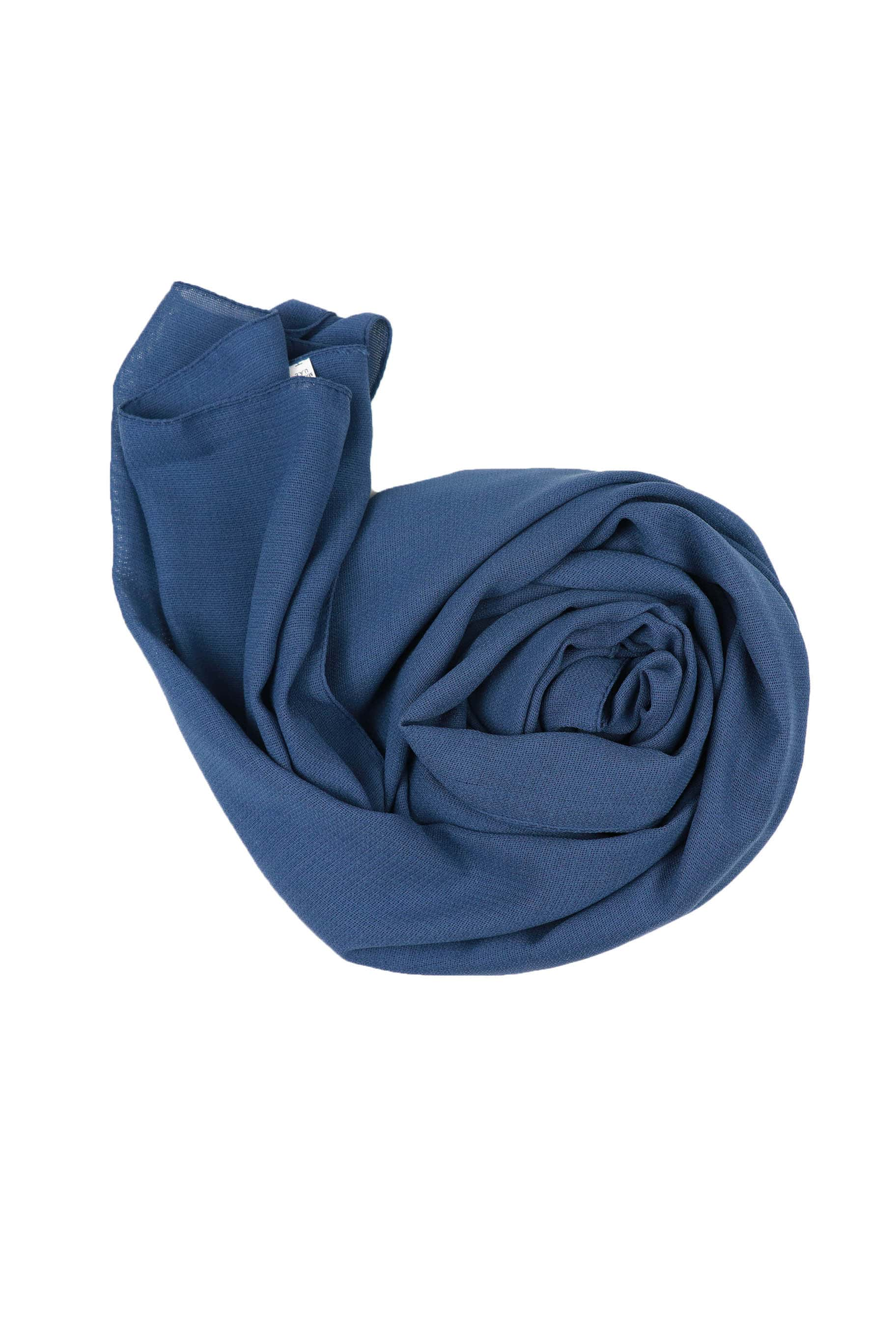 Slate Blue Jute Cotton - Jute-Cotton Hijab - The Modest Look