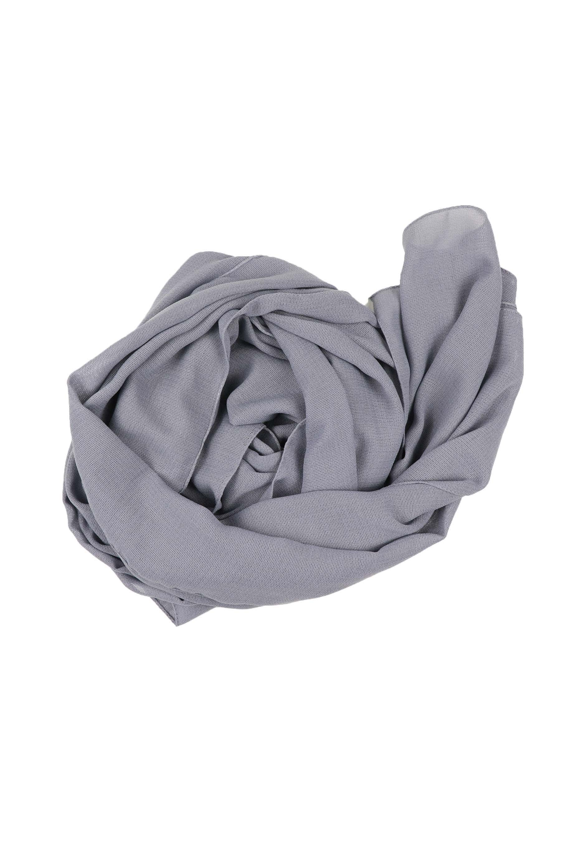 Cement Grey Jute Cotton - Jute-Cotton Hijab - The Modest Look
