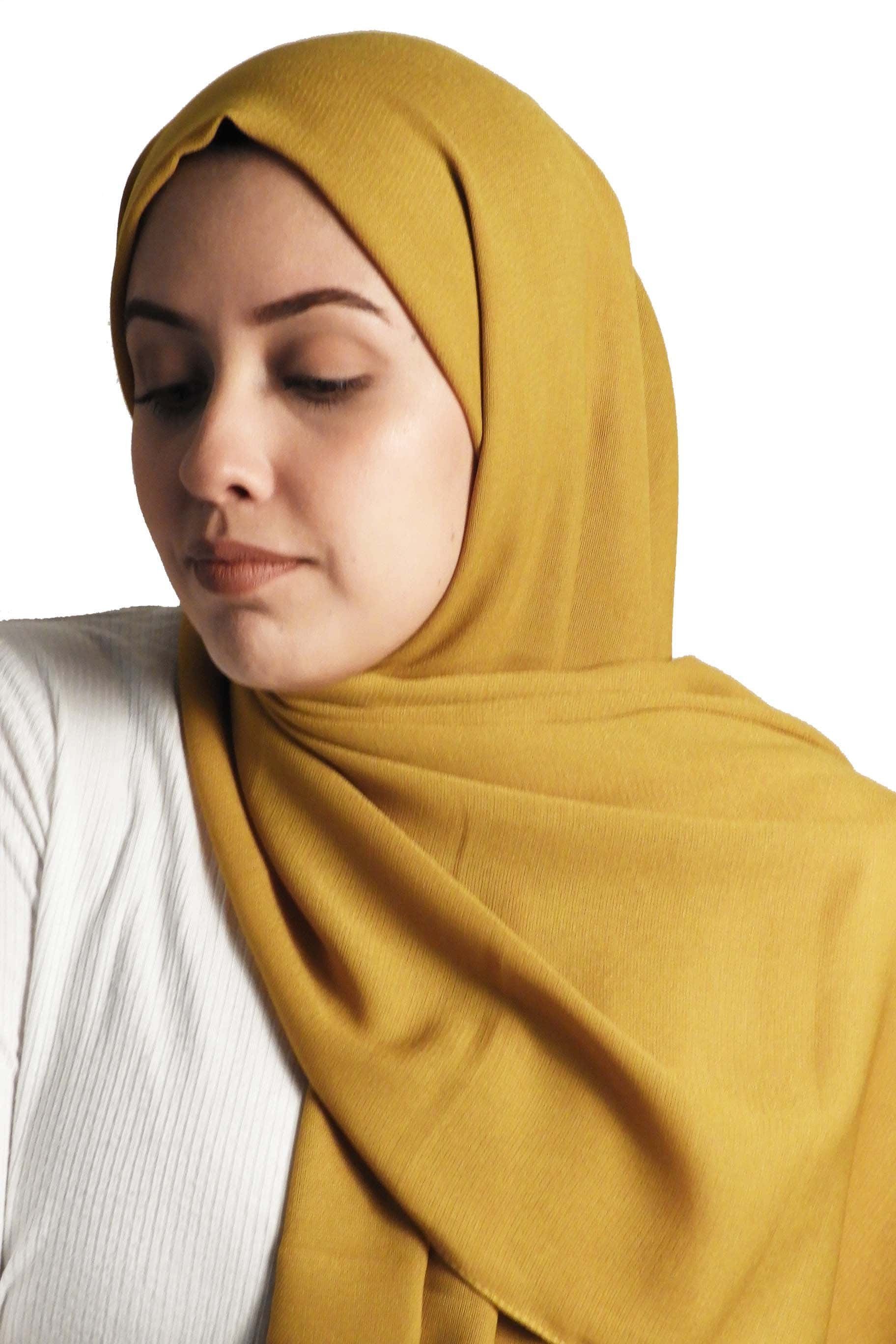 Mustard Yellow Jute Cotton - Jute-Cotton Hijab - The Modest Look