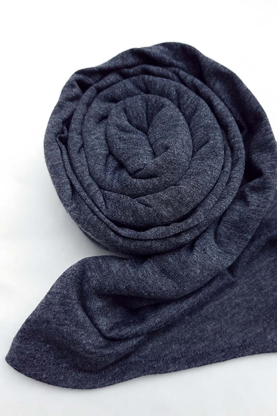 Dark Grey Jersey Hijab (Separate Inner Cap Included) - Jersey Hijab - The Modest Look