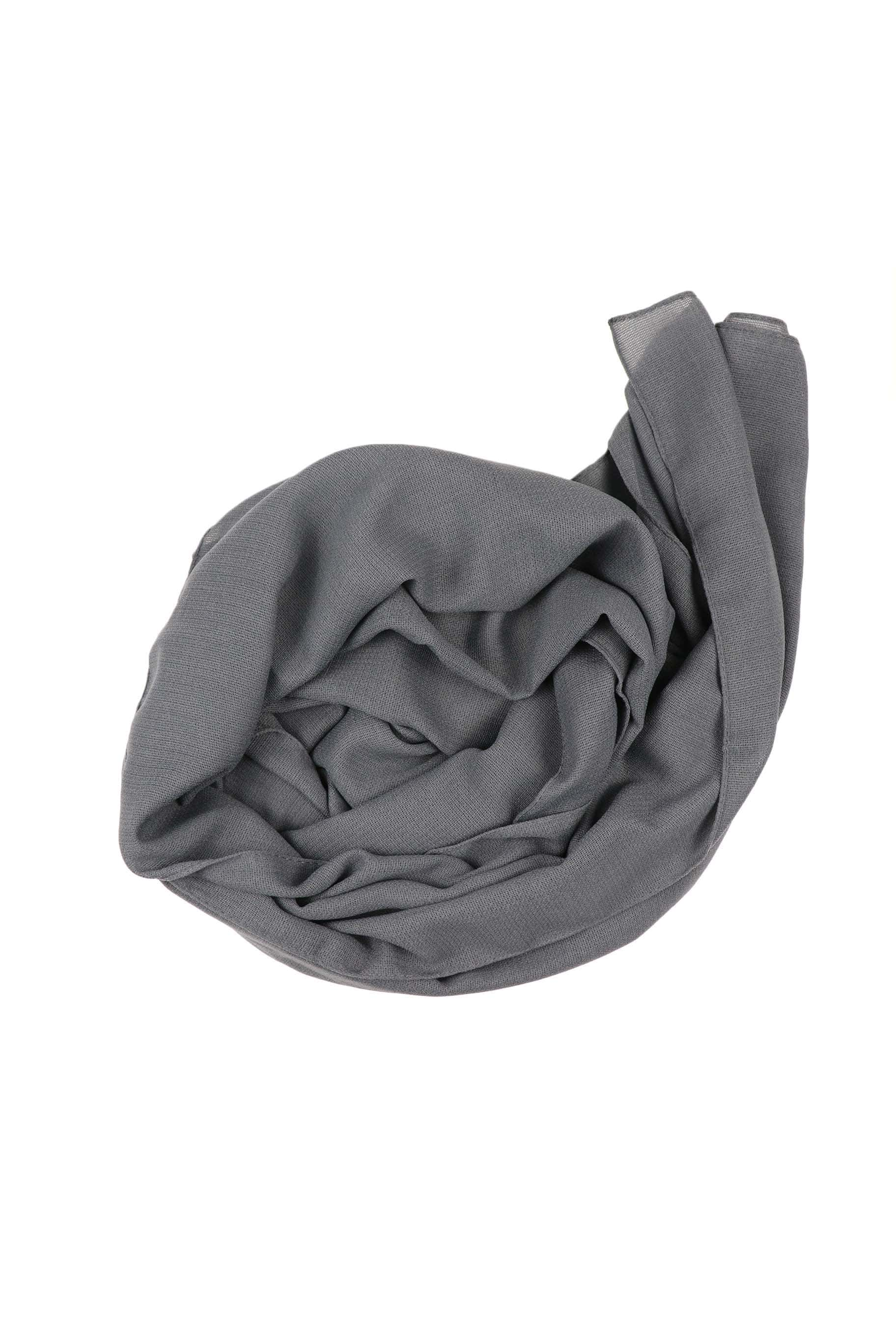 Deep Grey Jute Cotton - Jute-Cotton Hijab - The Modest Look
