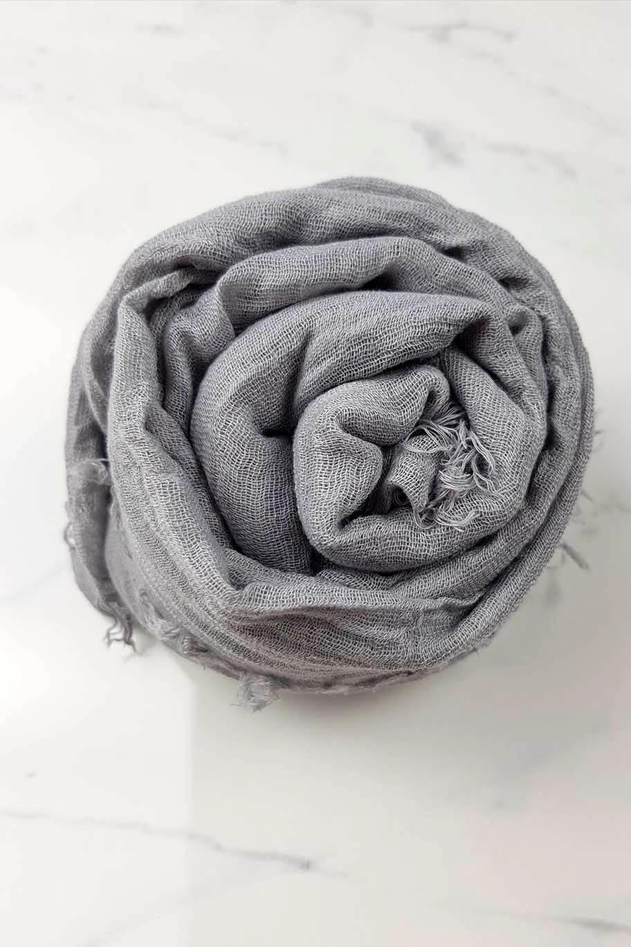 Ash Grey Crinkle Cotton - Crinkle Cotton Hijabs - The Modest Look