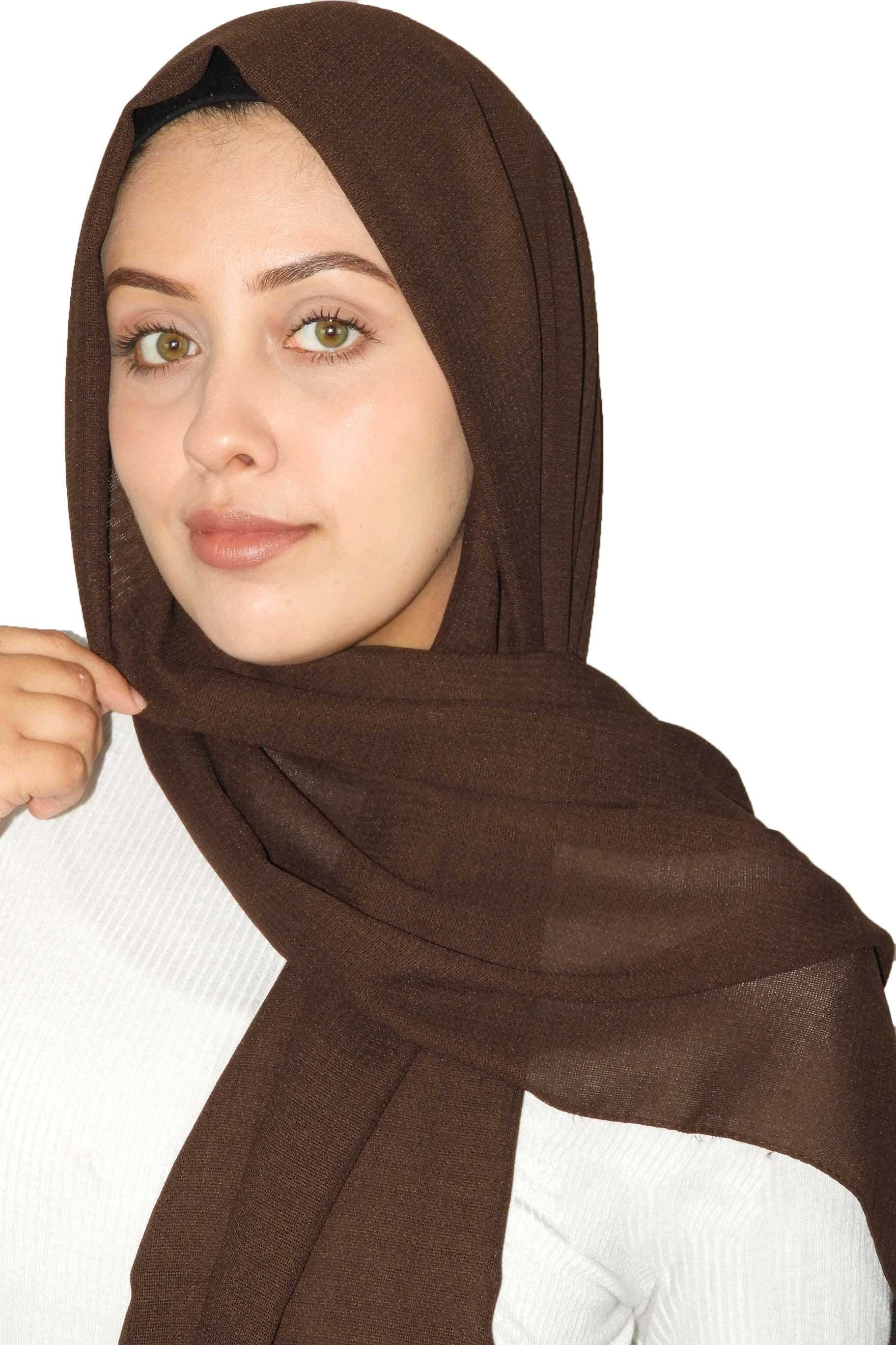 Bark Brown Jute Cotton - Jute-Cotton Hijab - The Modest Look