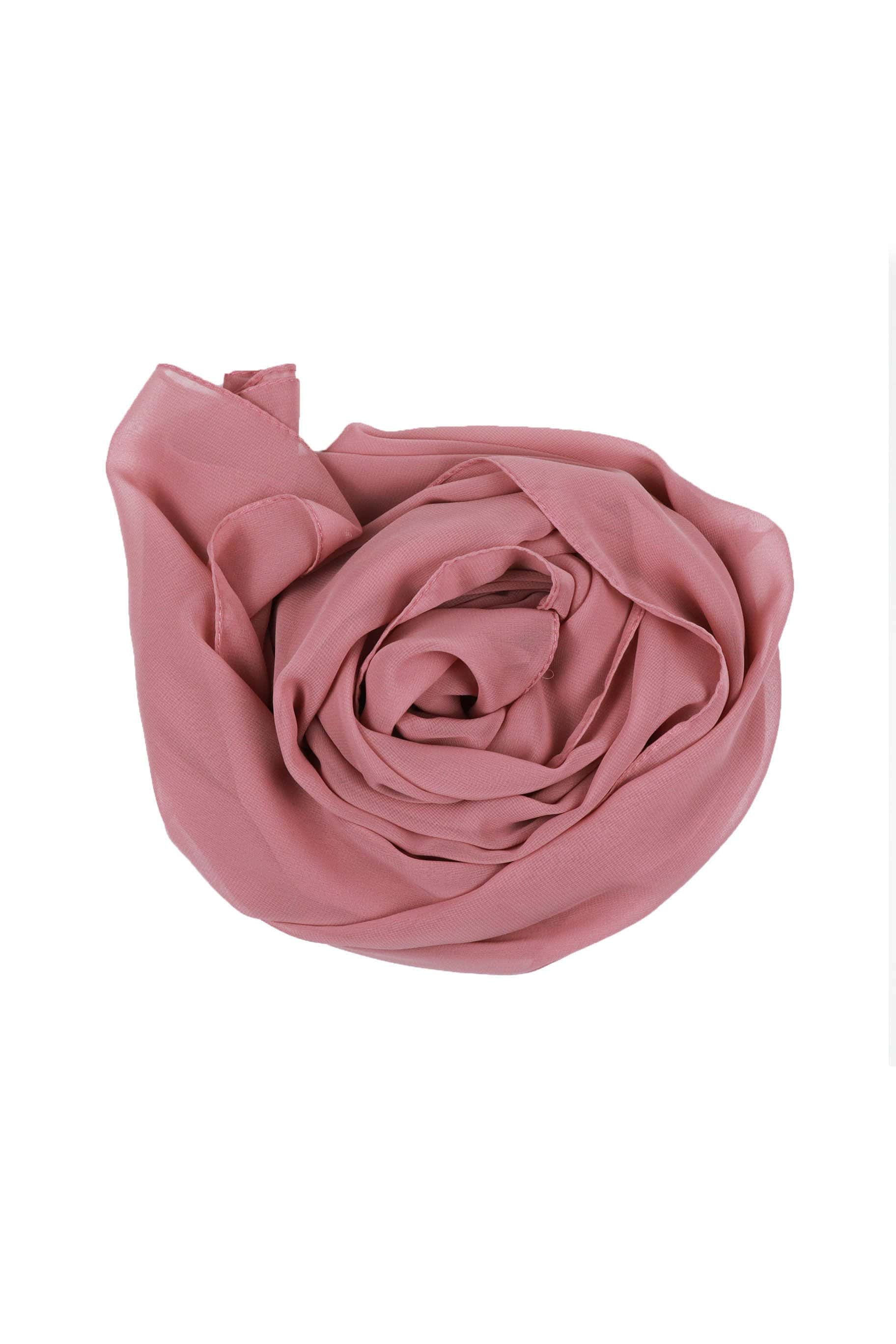 Plush Pink Chiffon Hijab - Chiffon Hijab - The Modest Look