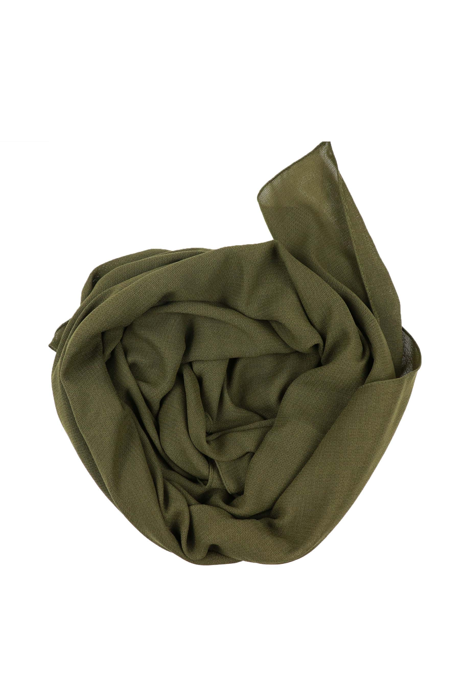 Olive Green Jute Cotton - Jute-Cotton Hijab - The Modest Look