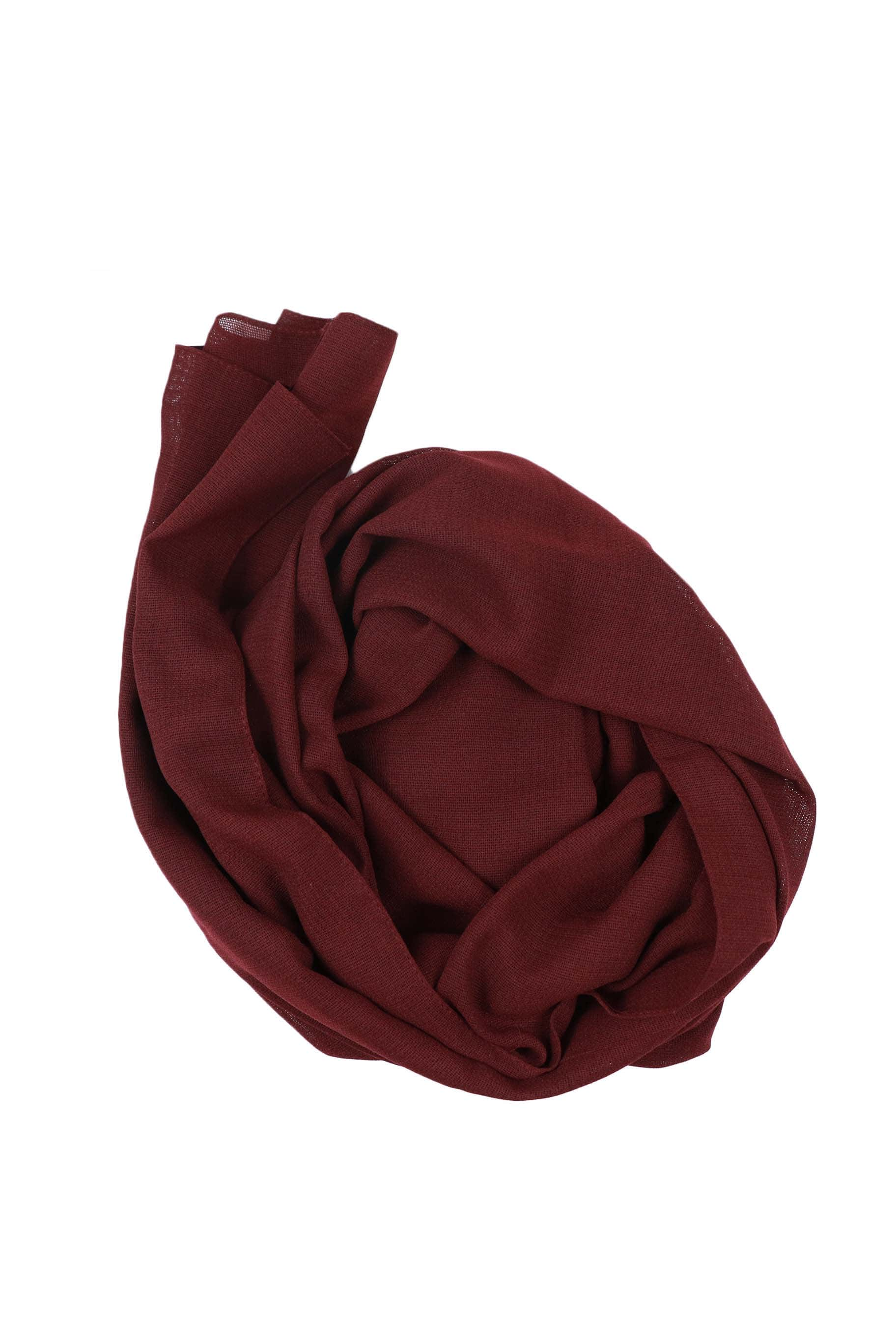 Plump Maroon Jute Cotton - Jute-Cotton Hijab - The Modest Look