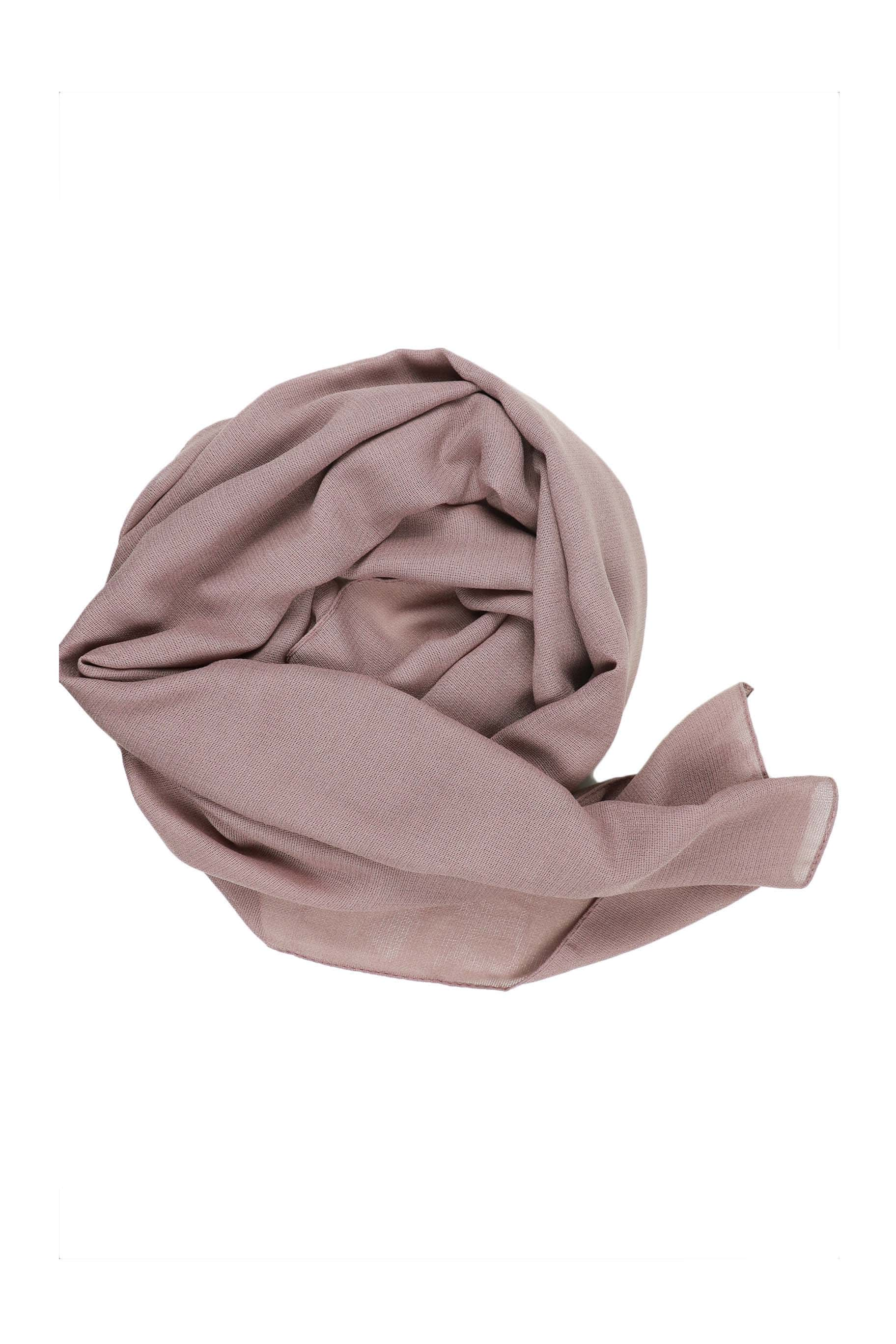 Mauve Purple Jute Cotton - Jute-Cotton Hijab - The Modest Look