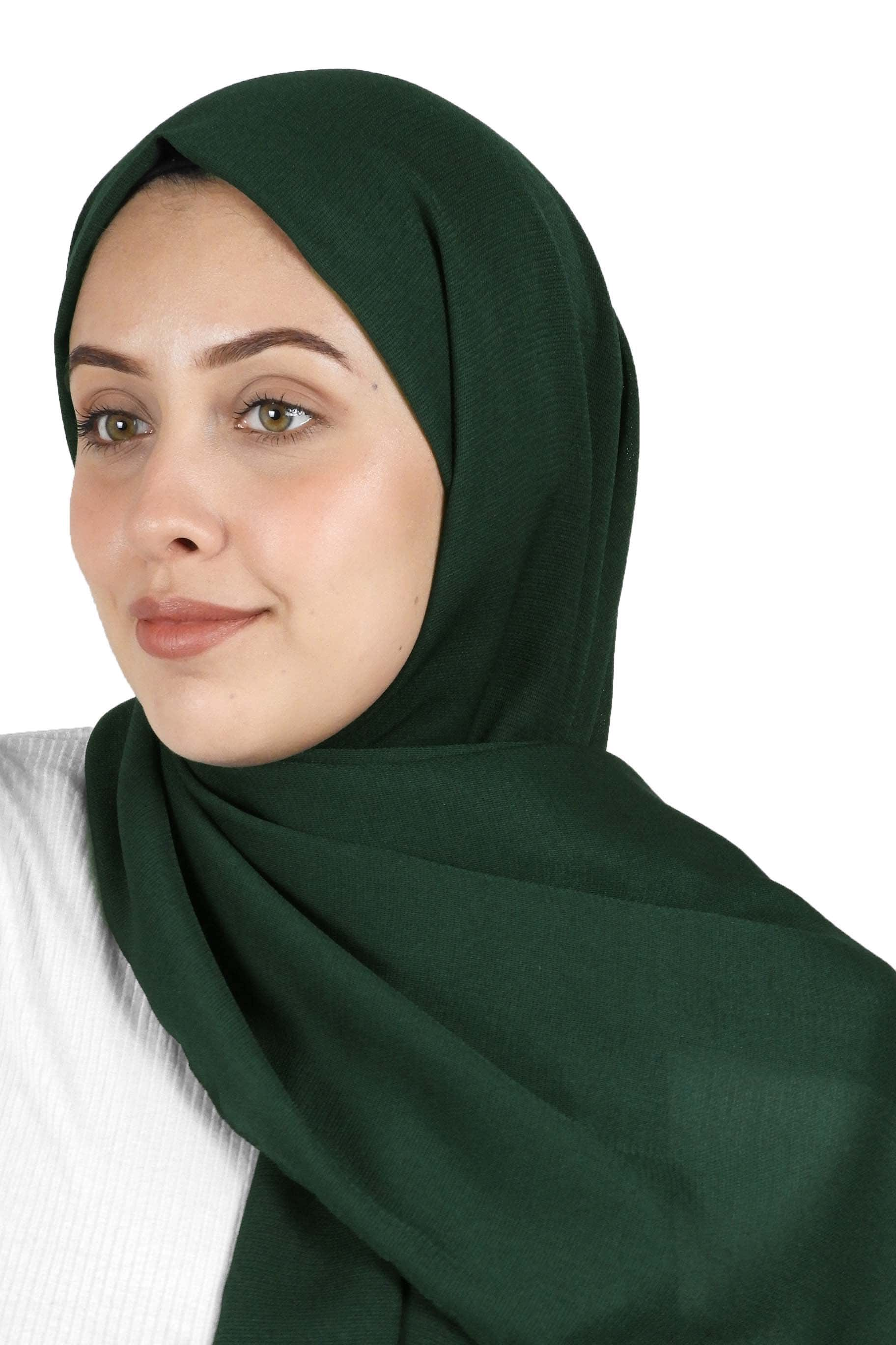 Emerald Green Jute Cotton - Jute-Cotton Hijab - The Modest Look