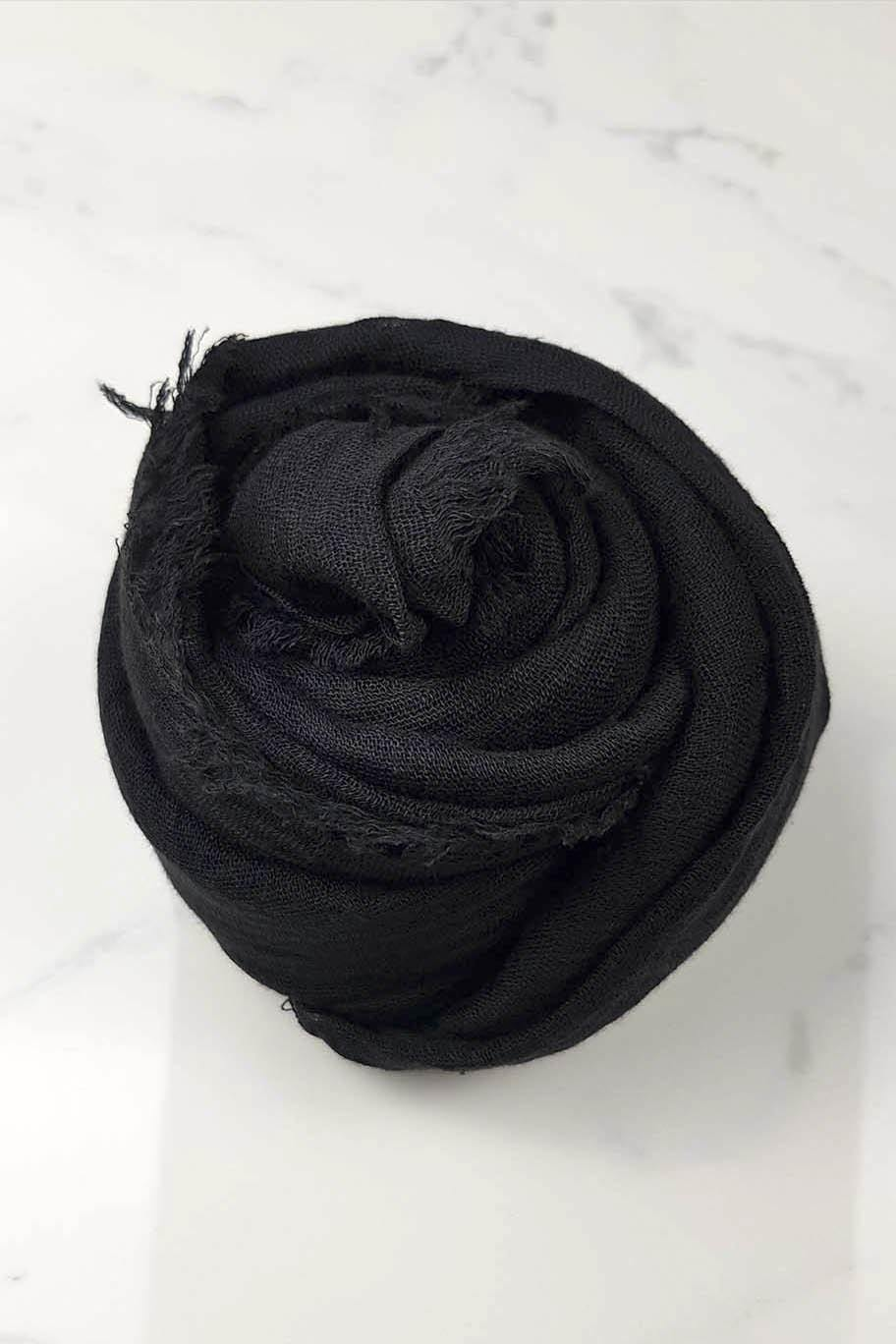 Black Panther Crinkle Cotton - Crinkle Cotton Hijabs - The Modest Look