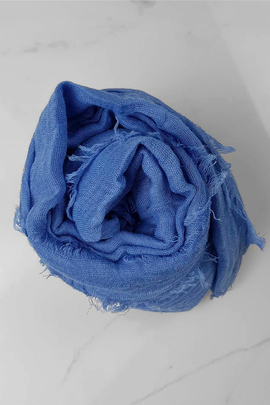 Periwinkle Blue Crinkle Cotton